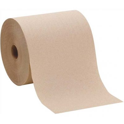 "8"" X 800'  BROWN Roll Towels    6/CS"